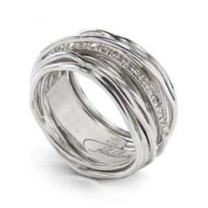 anello filodellavita classic 13 fili argento e diamanti