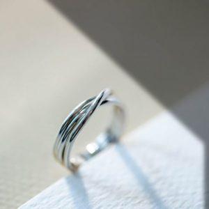 anello filodellavita rock 3 fili in argento