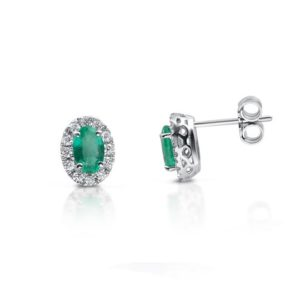 orecchini oro bianco smeraldi e diamanti gianni carità