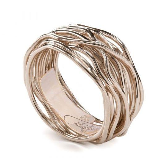 anello filodellavita classic 13 fili oro rosa