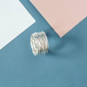 anello filodellavita classic 13 fili argento