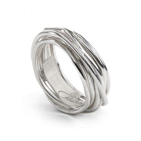 anello filodellavita classic 7 fili argento